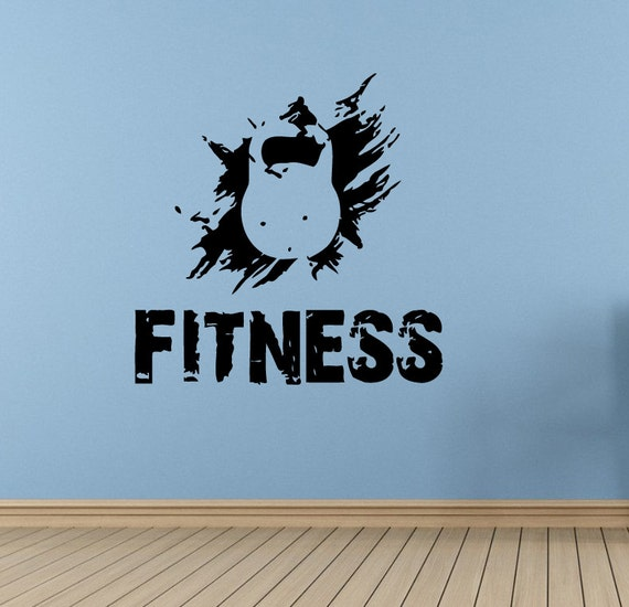 Wall decal room sticker bedroom fitness logo gym crossfit