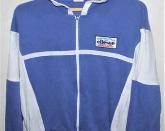 Vintage Ellesse Perugia Italy Casual Pullover Hoodie Sweatshirt
