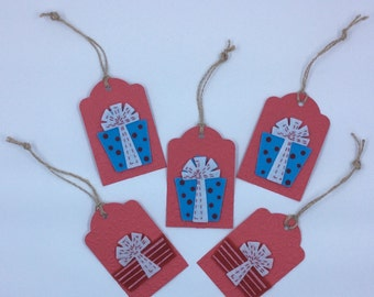 Present Holiday Gift Tags