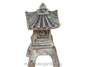 One Story Micro Pagoda for Miniature Garden, Fairy Garden
