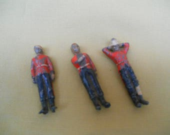 Vintage Lead Wounded Soldiers, British Army Wounded Toy Soldiers 52mm, Lead Soldiers