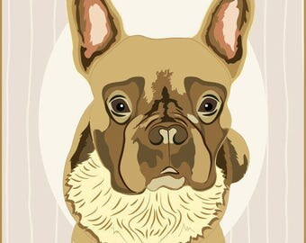 Custom Pet Portrait - Bespoke Gift For Pet, Cat Or Dog  Lover / Pet Loss / Pet Memorial / Friendship - Illustration Print