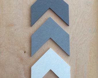 Wood Arrow Chevron - Set Of Three Handmade Arrows - Wall Decor - Wall Art - Rustic Decor
