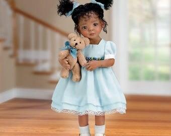 Ashton Drake - Jada And Teddy Poseable Child Doll With FREE Teddy Bear by Mayra Garza