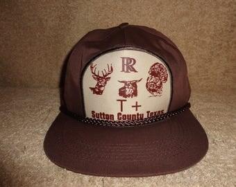 1 New Vintage Brown RR Sutton County Texas Trucker Cap
