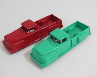 Two Midgetoy Trucks, Collectible Diecast, 1950s Diecast Truck, Rockford IL Diecast Toy, Pick Up Truck, Large Midgetoy