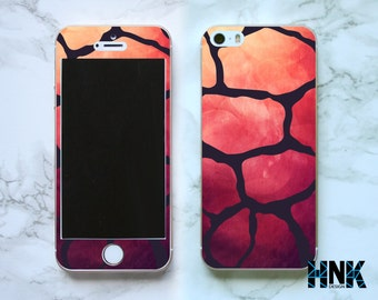 Iphone SE full skin / Iphone 5s decal / Iphone 5 decorative cover / pink macro case IS018