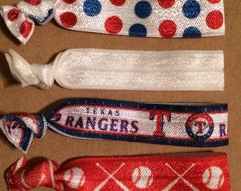 Texas Rangers Elastic Hair Ties
