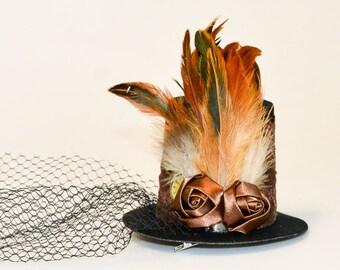 """Steampunk mini top hat """"Hannelore"""""""