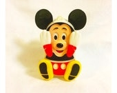 Vintage Illco Animated Musical Mickey Mouse Crib Toy
