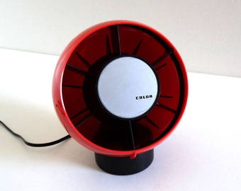 Vintage 1970s Red Ventilator CALOR - Retro Desk Fan