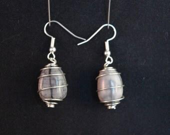 Milky Quartz Crystal Earrings