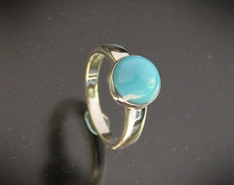 Turquoise Ring Sterling Silver size 7.5