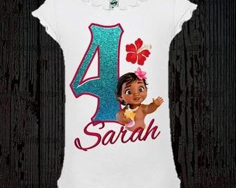 Moana Birthday Shirt - Moana Baby Shirt