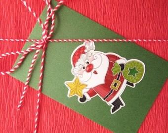 Santa Hang Tag, 7 Gift tags set, Gift Tag for Kids, Gift hang tag, Christmas Gift Tags, Green Hang tag, Gift decoration