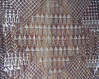 Assuit, Vintage Black Shawl,  Egyptomania, Egyptian Revival, Deco, Belly Dance. Tribal Fusion, (76)