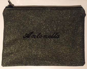 Clutch bag with custom embroidery
