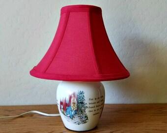Vintage Beatrix Potter Peter Rabbit Lamp