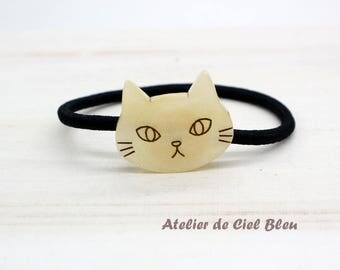 Cat Hairband, Cat Head Hairband, Cat Hair Ties, Cat Hair Elastic, Cat Lover Gifts, Hair Accessory, Cat Accessories