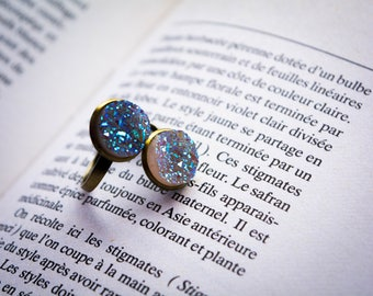 Air Element - Ring in Bronze with quartz resin