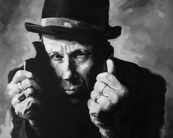 Tom Waits Fine Art Print (Swordfishtrombones - Rain Dogs - Closing Time - Musician Portrait - Icons - Mule Variations - The Black Rider)