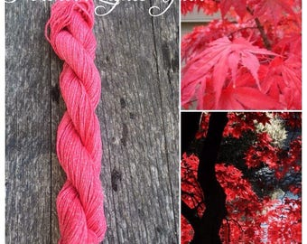Japanese Maple hand-dyed cotton yarn