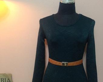 Mini dress .Vintage Dress.90's Dress. Dark Green  Dress. 1990 Dress. 1990 Womens dress. Dark Green Vintage Dress For Women 1990's Size XXS