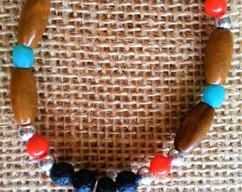 Essential oil diffuser bracelet, Hamsa Natural