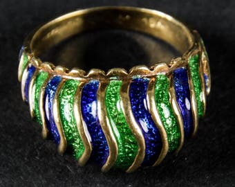 Vintage Tiffany & Co. 18k Enamel Dome Ring