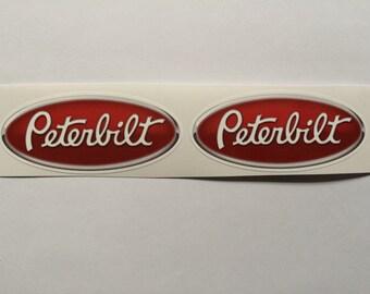 2 Peterbilt Paccar 3D Vinyl Die Cut Decals