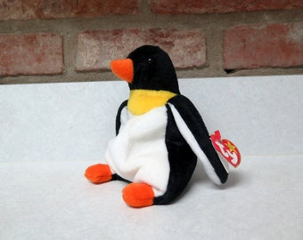 Penquin TY Beanie Baby Waddle the Penquin New With Tags 1995 Vintage Toy Stuffed Animal Collectible