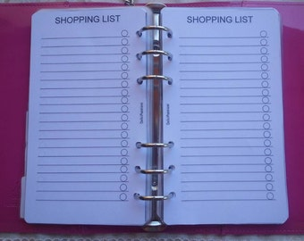 Insert personal shopping list/medium refill