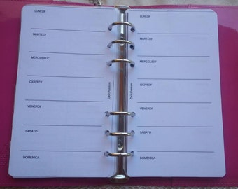 Refill week planner insert with week on a perpetual personal page/medium