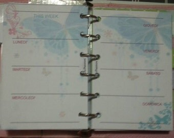 Week planner weekly Refill perpetuity, undated