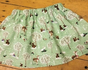 Girls Christmas cotton skirt, baby girls skirt, skirt, Christmas skirt, little girls skirt, Christmas print skirt.