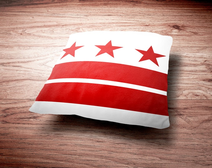 Washington D.C. Flag Throw Pillow - Washington D.C. Flag Throw Pillow