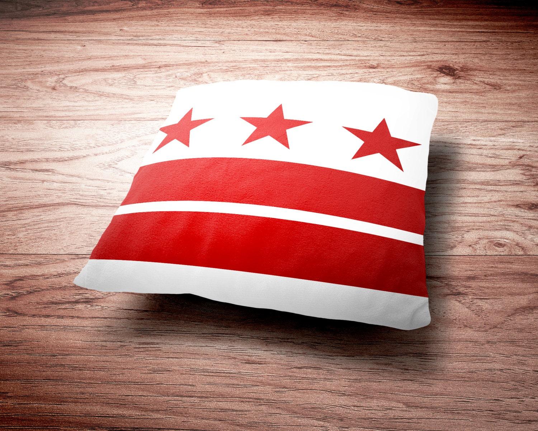 Washington D.C. Flag Throw Pillow - Washington D.C. Flag Throw Pillow