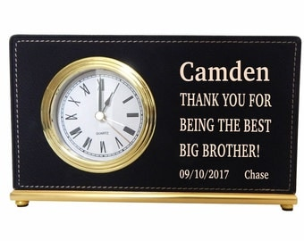 Custom Gift for a Special Brother,Brother Decorative Desk Clock,Thank you Brother Gift,Brother Gift for all Occasions,LCG006