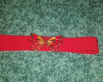 Red stretch butterfly belt