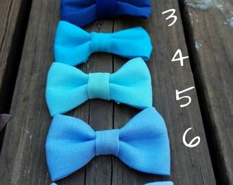 Easter Linen headbands; Blue