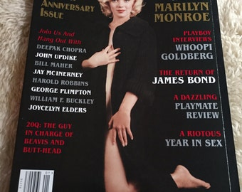 Vintage playboy january 1997 Marilyn Monroe great shape centerfold