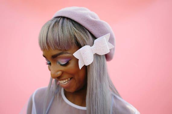 Chunky Glitter Hair Bow