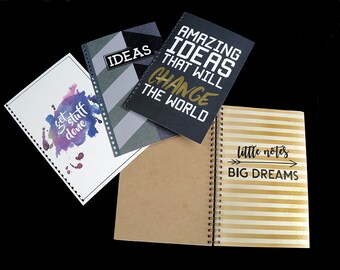 NOTEBOOK Design, Writing Journal, Spiral  100 pages