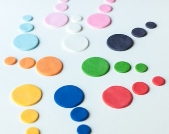 Fondant Circle Cutouts - Cupcake and Cake Toppers