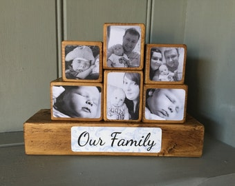 Photo Stacking Blocks / Photo Gift / Photo Blocks / Wooden Photo Block / Keepsake / Gift / Photo / Block / Family / Photo Gift Ideas /