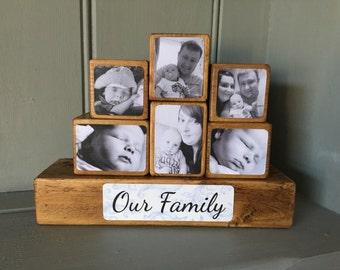 Photo Stacking Blocks / Photo Gift / Photo Blocks / Wooden Photo Block / Keepsake / Gift / Photo / Block / Family / Photo Gift Ideas /