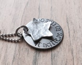 Ready to Ship It Matters to This One - Handstamped Starfish Necklace - Orphans Adoption Special Needs - Hypoallergenic Steel