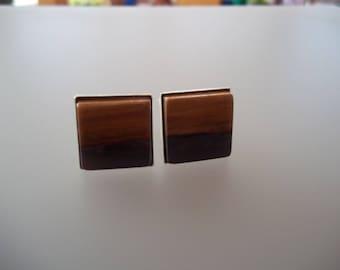 Wooden cuff links