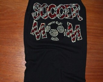 RHINESTONE Soccer Mom Tank Top Bling on the Field...Support your athlete!!!