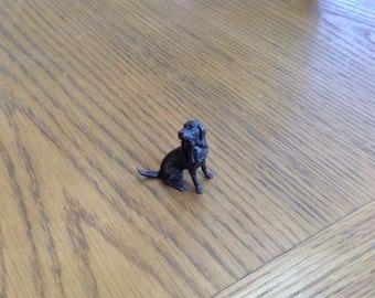 Labrador with Lead - Bronze Sculpture